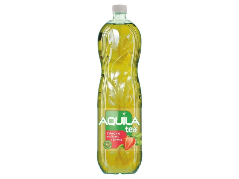Aquila Tea Zelený čaj se šťávou z jahody 1,5l
