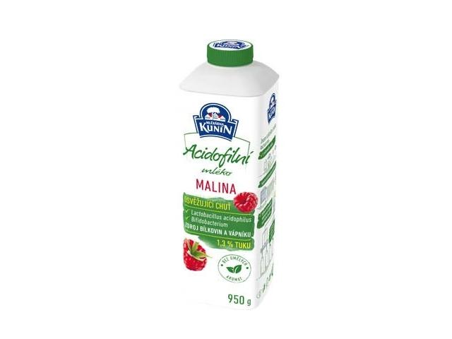 Kunín Acidofilní mléko malina 950g