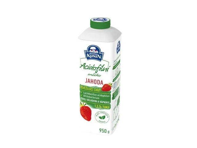 Kunín Acidofilní mléko jahoda 950g
