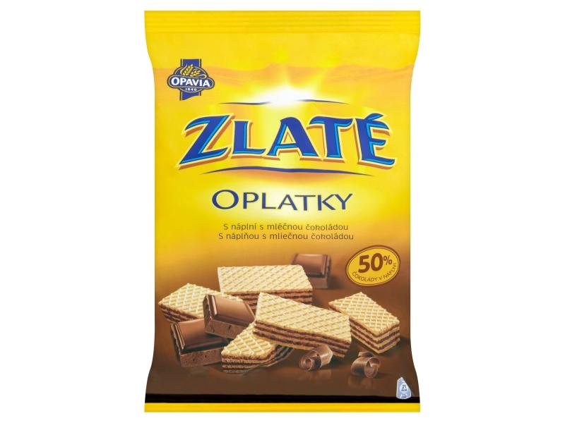 Opavia Zlaté Oplatky s náplní s mléčnou čokoládou 180g