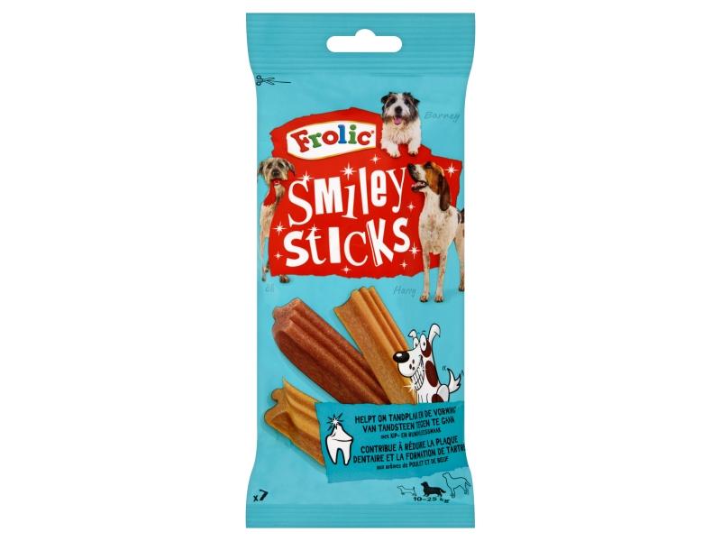 Frolic Smiley Sticks s příchutí kuřecího a hovězího masa 7 ks 175g