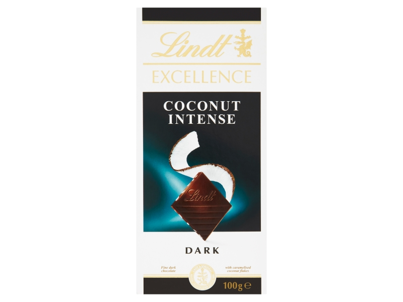 Lindt Excellence Extra hořká čokoláda Coconut Intense 100g