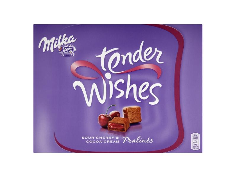 Milka Tender Wishes Pralinky s višňovou příchutí 110g
