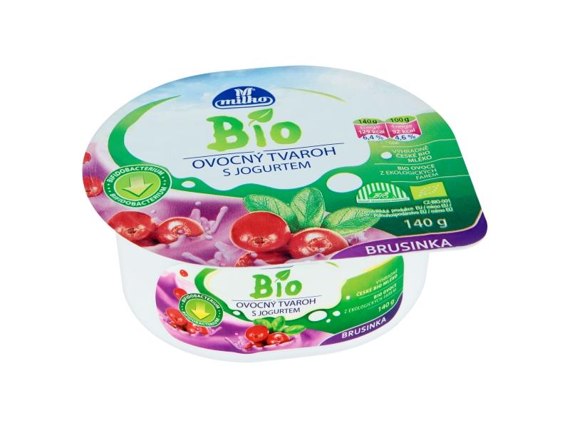 Milko Tvaroh s jogurtem brusinka BIO 140g