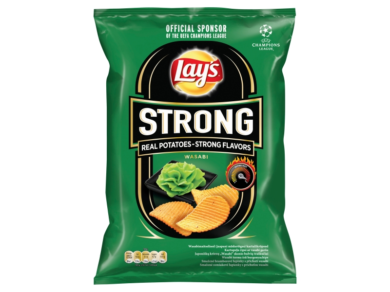 Lay´s Strong Chipsy s příchutí wasabi 77g
