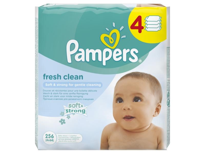 Pampers Fresh Clean Dětské Čisticí Ubrousky 4x64ks