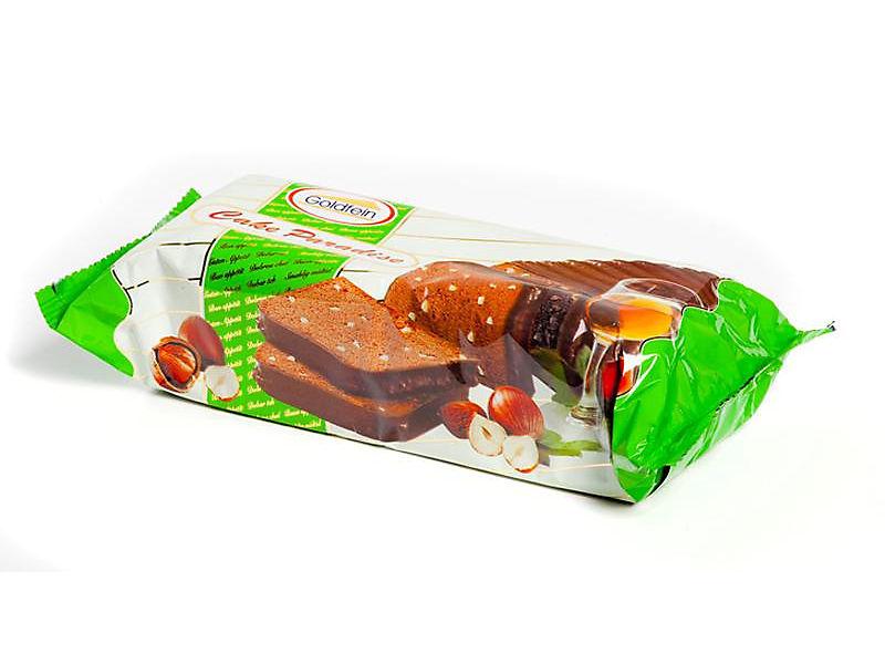 Goldfein Kakaový blok s oříšky polévaný 300g