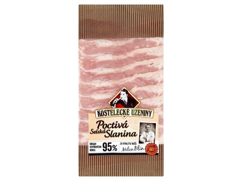 Kostelec Poctivá selská slanina plátky 100g