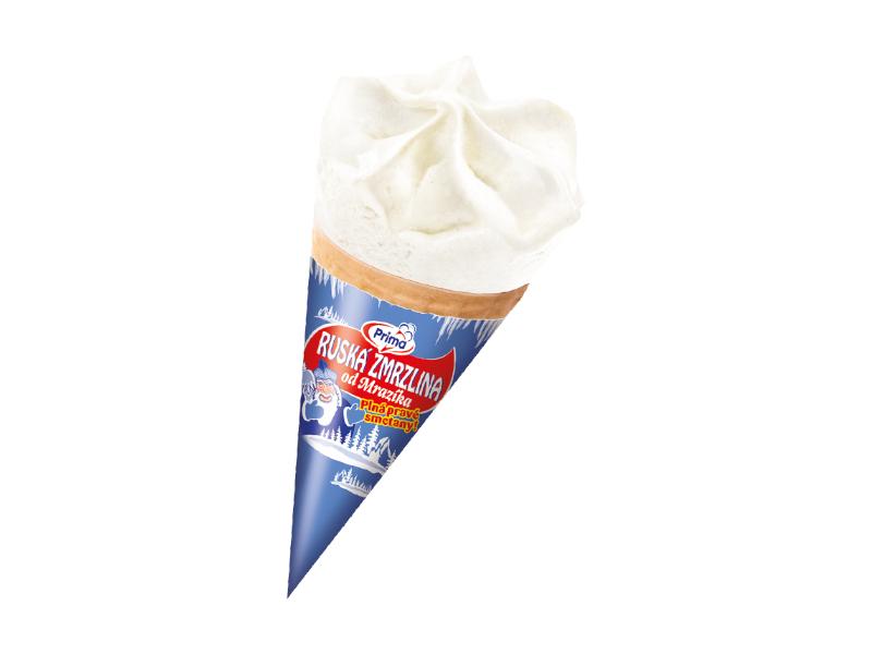 Prima Ruská zmrzlina v kornoutu 115ml