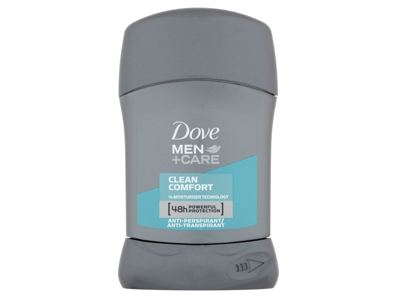 Dove Men+Care Clean Comfort tuhý antiperspirant pro muže 50ml