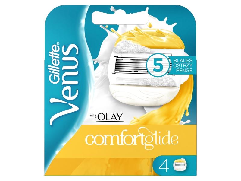 Gillette Venus ComfortGlide Olay Dámské Holicí Hlavice, 4ks