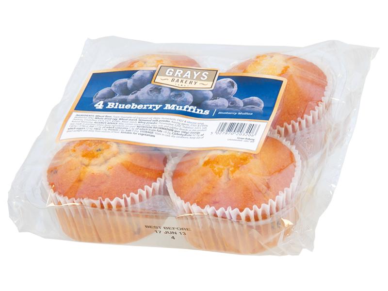GRAYS Muffiny borůvkové 4x76,5g