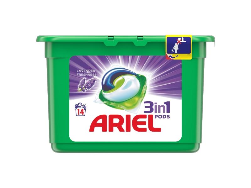 Ariel Lavender Kapsle Na Praní Prádla 3v1, 14 Praní