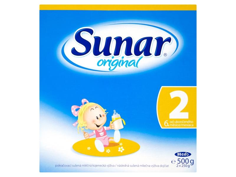 VÝPRODEJ Sunar Original 2 pokračovací sušená mléčná kojenecká výživa 500g