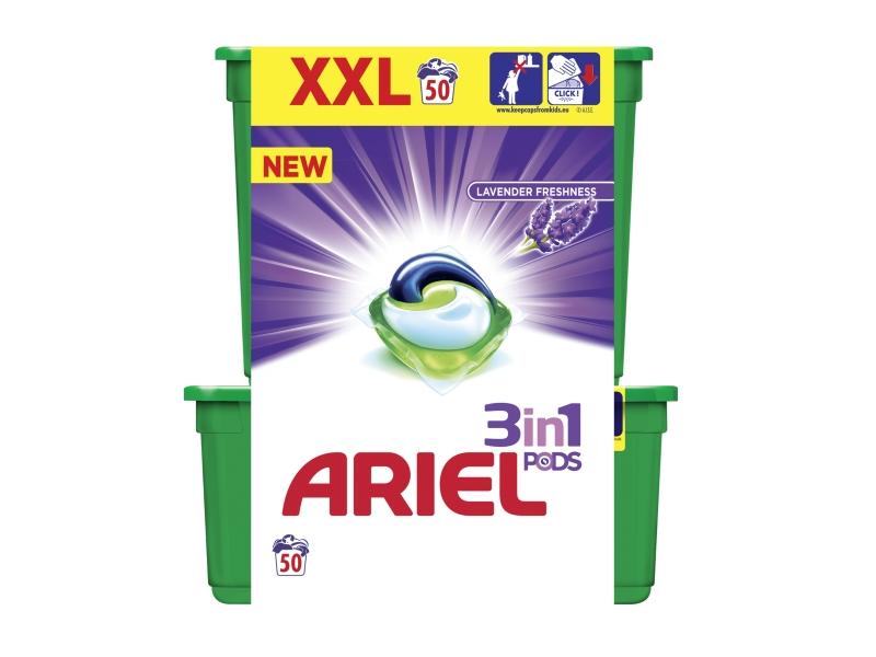 Ariel Lavender Freshness Kapsle Na Praní Prádla 3v1, 50 Praní