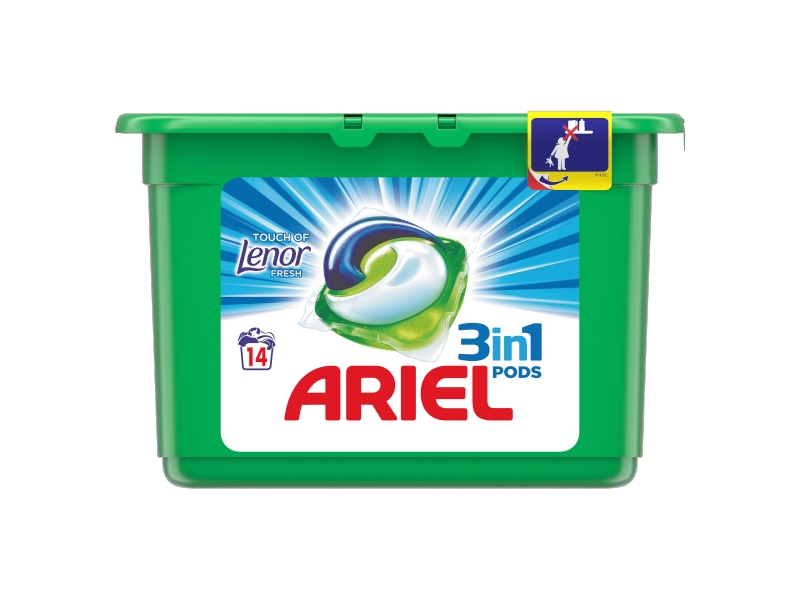 Ariel Touch of Lenor Fresh 3in1 PODS prací kapsle 15 ks