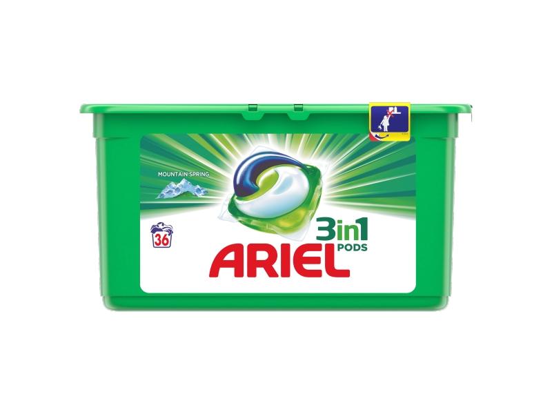 Ariel Mountain Spring 3in1 PODS prací tablety 36ks