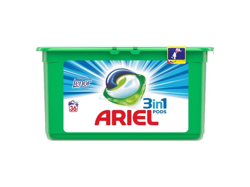 Ariel Touch of Lenor Fresh 3in1 PODS prací gelové tablety 36ks