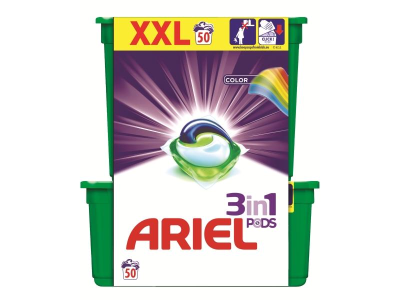 Ariel Color Kapsle Na Praní Prádla, 50 Praní