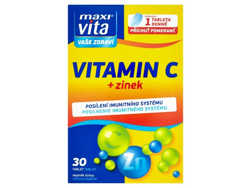 MaxiVita Vitamin C + zinek 30 tablet