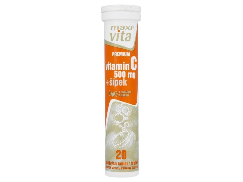 MaxiVita Šumivé tablety vitamin C+šípek 20 tablet