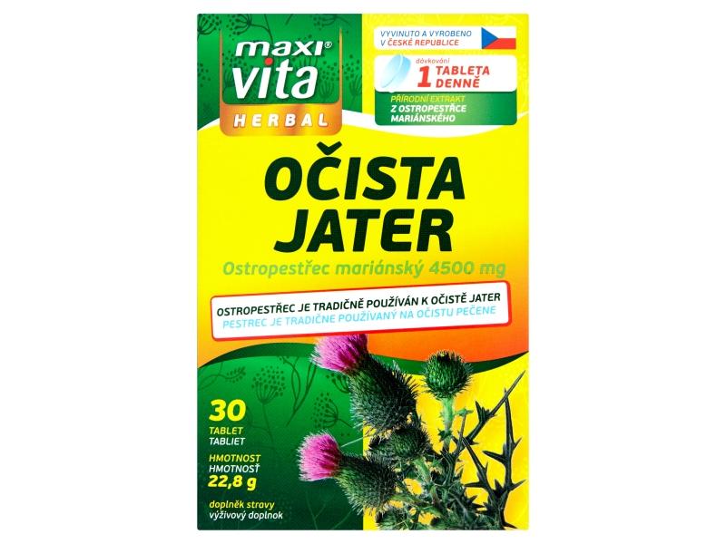 MaxiVita Očista jater 30 tablet