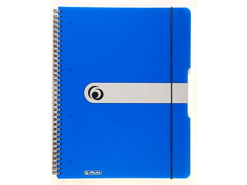 Blok spirálový Herlitz A4 80 listů čtverečkovaný modrý