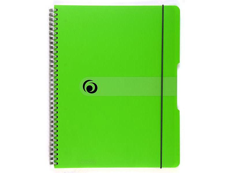 Blok spirálový Herlitz A4 80 listů čtverečkovaný zelený