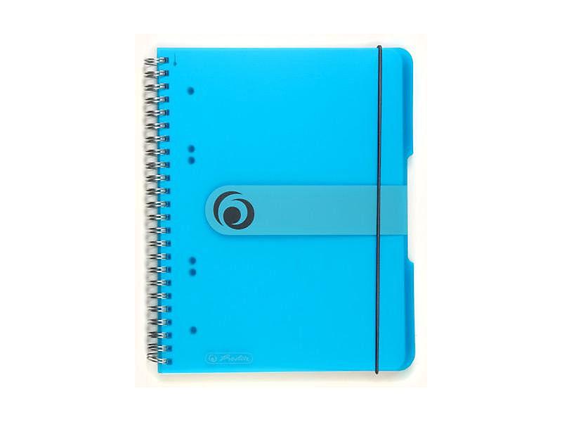 Blok spirálový Herlitz A5 80 listů čtverečkovaný modrý