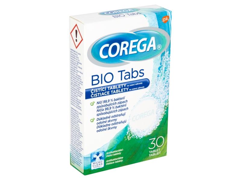 Corega Bio Tabs čistící tablety na zubní náhrady 30 ks
