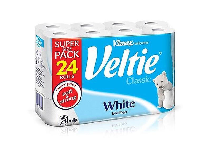 Kleenex Veltie Toaletní papír bílý 2-vrstvý 24ks