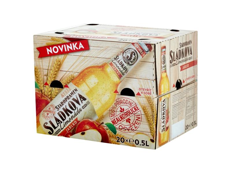 Staropramen Sládkova limonáda jablko 20x0,5l