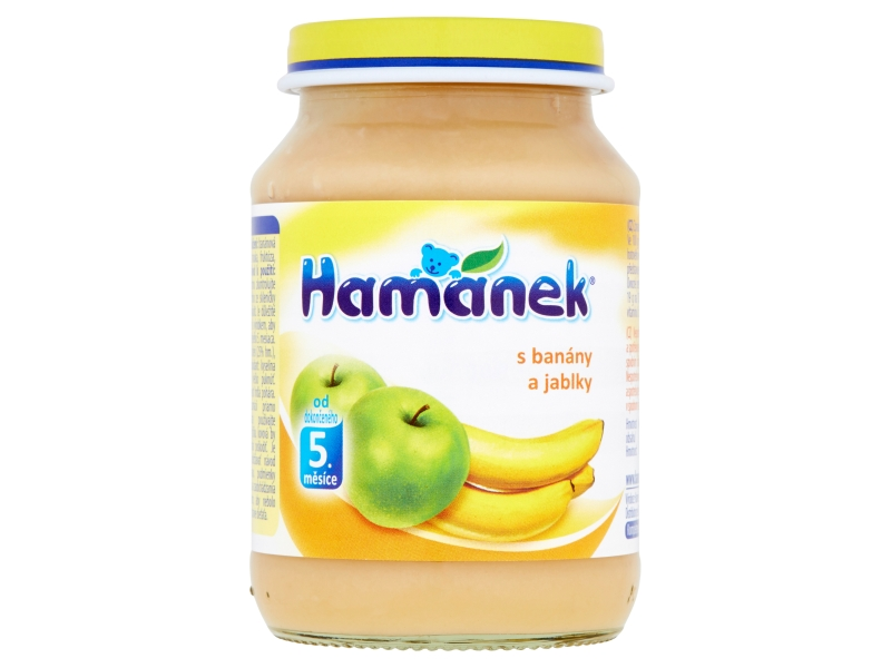 Hamánek S banány a jablky 190g