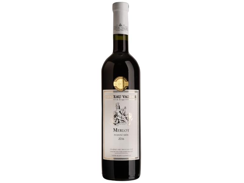 Château Valtice Merlot pozdní sběr suché červené víno 0,75l