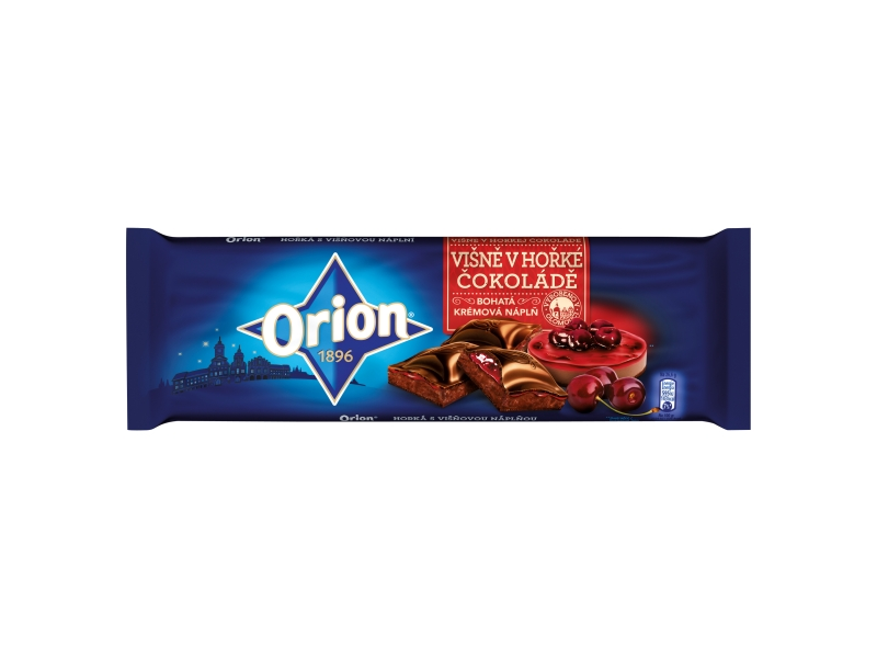 Orion Hořká čokoláda s višněmi 240g