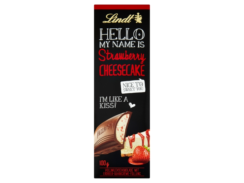 Lindt Hello Strawberry cheesecake 100g