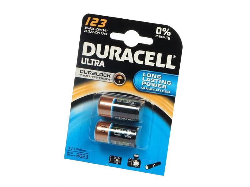 Baterie Duracell Ultra 123 3V, DL123A, 2ks