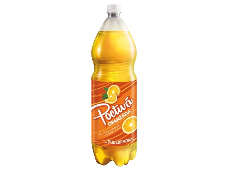 Poděbradka Oranžáda 2l