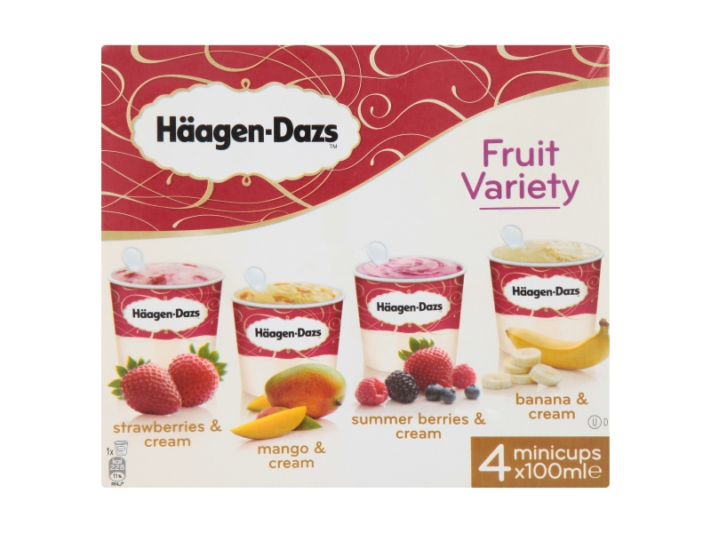 Häagen-Dazs Fruit variety 4x100ml