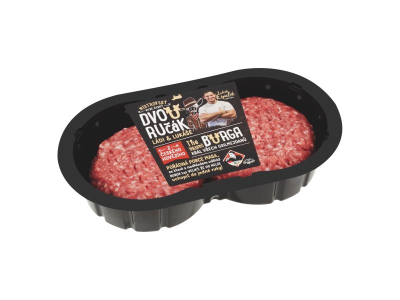 Hovězí burgersteak - dvouručák (2x165g) 330g