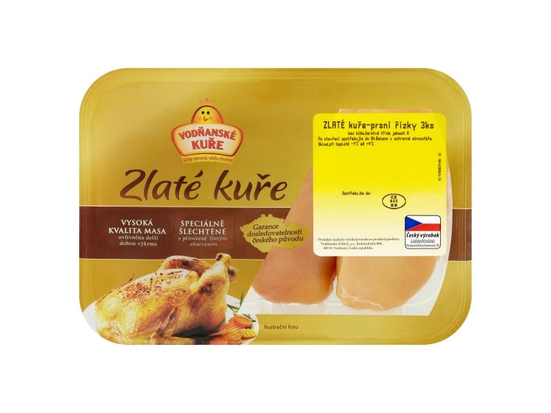 Vodňanské Zlatá Kuřecí prsa - Supreme cca 1,3kg