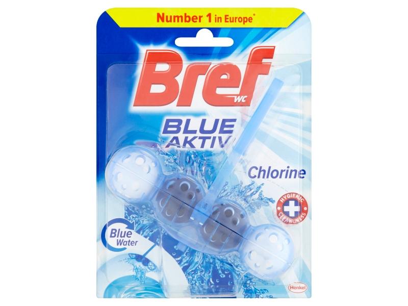 Bref Blue Aktiv Chlorine tuhý WC blok 50g