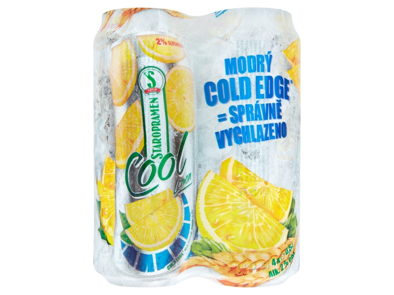 Staropramen Cool Lemon pivo plech 4x500ml