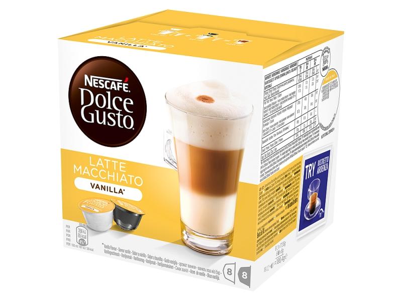 NESCAFÉ DOLCE GUSTO Latte Macchiato Vanilla kapsle 8x17,5g+8x6g