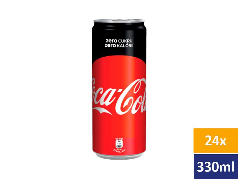 Coca Cola Zero 24x 330ml, plech