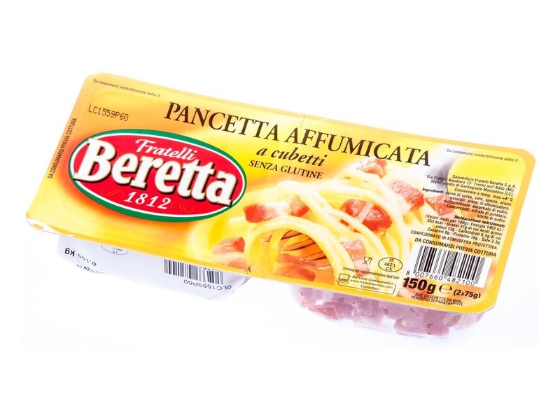Fratelli Beretta Pancetta Affumicata kostky (2x75g) 150g