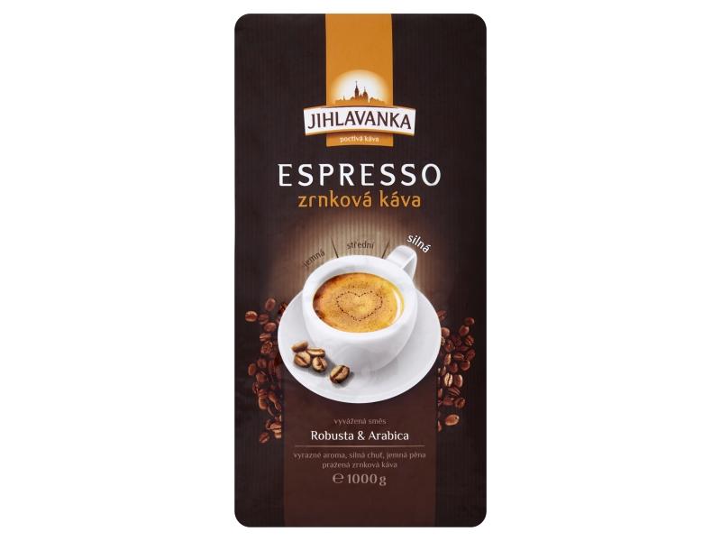 Jihlavanka Espresso Káva zrnková 1kg