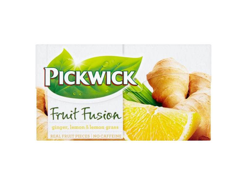 Pickwick Fruit Fusion Ginger, Lemon & Lemon Grass, 20x2g