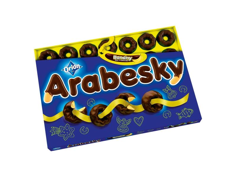 Orion Arabesky Banány 405g