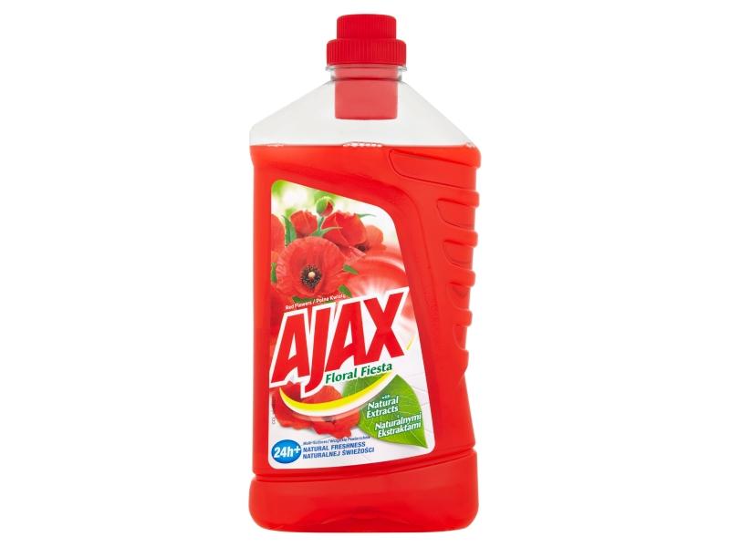 Ajax Floral Fiesta Red Flowers čistič povrchů pro domácnost 1l